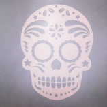 White Sugar Skull Vinyl Stickers