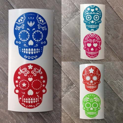Candy Skull vinyl decal