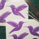 Vinyl humming birds