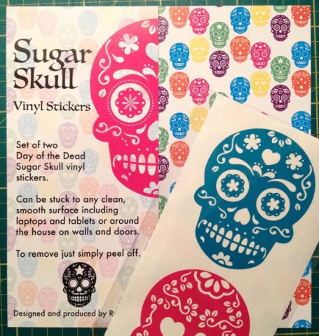 Sugar Skull Vinyl Stickers